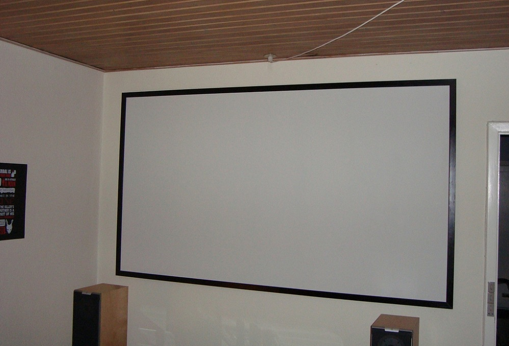 How To Hang A Projector Screen On The Wall Top