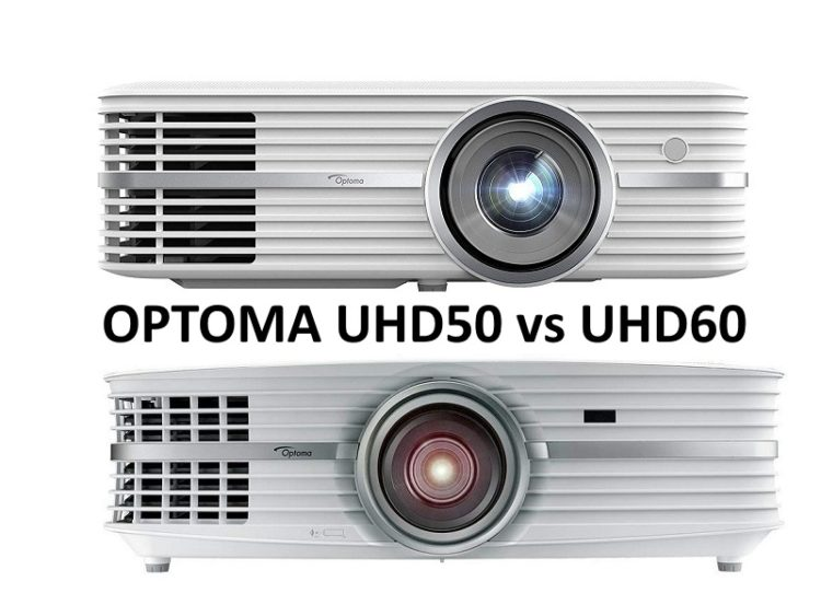Optoma UHD50 vs  UHD60 Comparison - Projectortop
