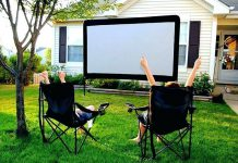 backyard movie projector diy